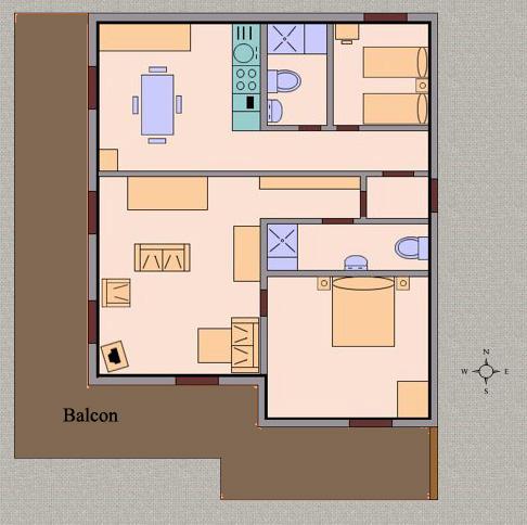 plan appartement 62 m2